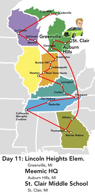 Memphis Michigan Map.Road Trip Greenville St Clair The Meemic Blog